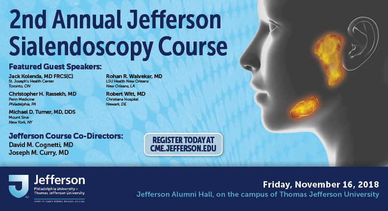 2nd Annual Jefferson Sialendoscopy Course
