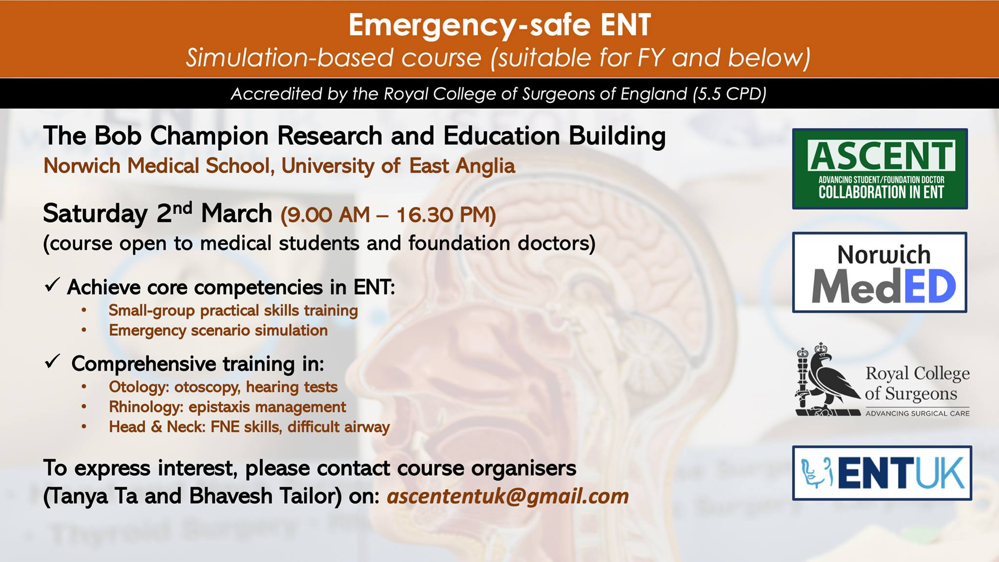Emergency-safe ENT – Simulation Based Course