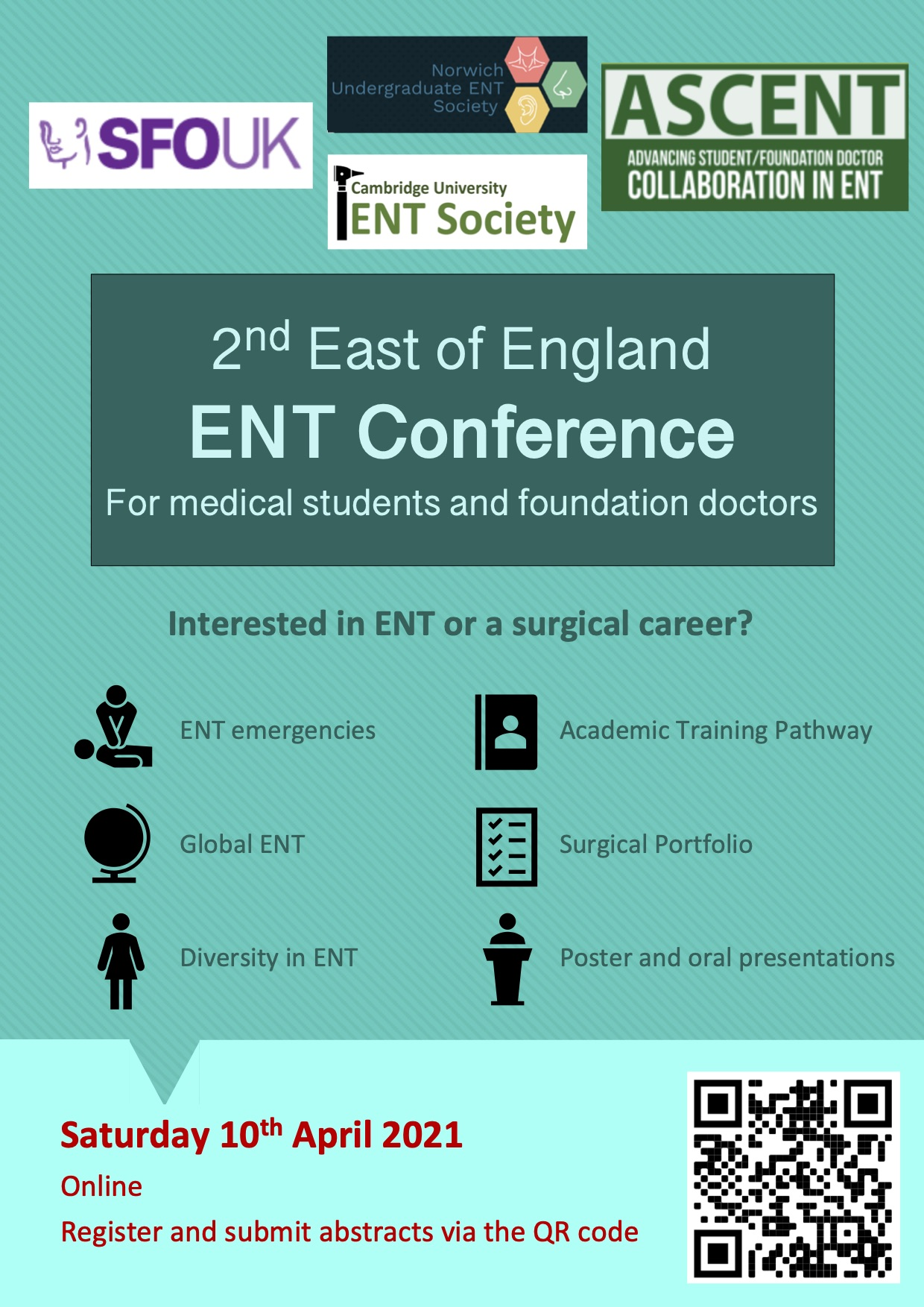 2nd East of England ENT Conference for medical students and foundation doctors 2021